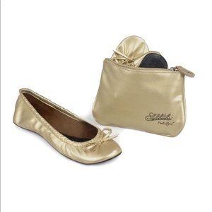 Sidekicks Gold Foldable Flats